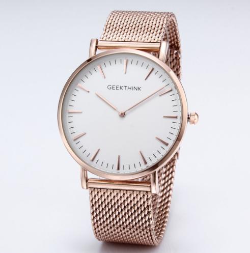 9c5cf88051fc Zegarek premium GeekThink na bransolecie white   rose gold - Sklep z  zegarkami ⌚ Niwatch.pl