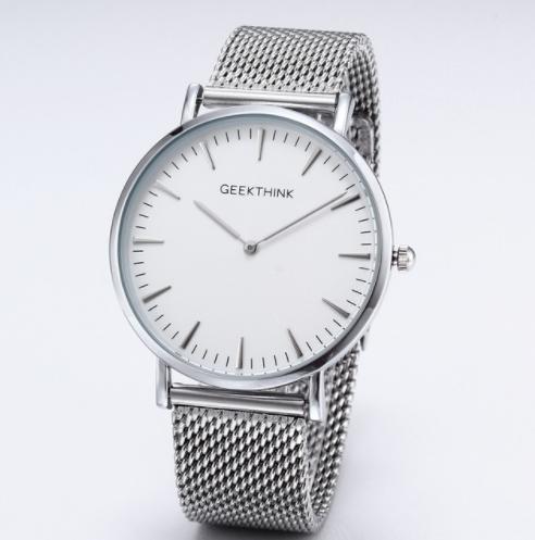 876fff553c52cd Zegarek premium GeekThink na srebrnej bransolecie - ⌚ Zegarki ...