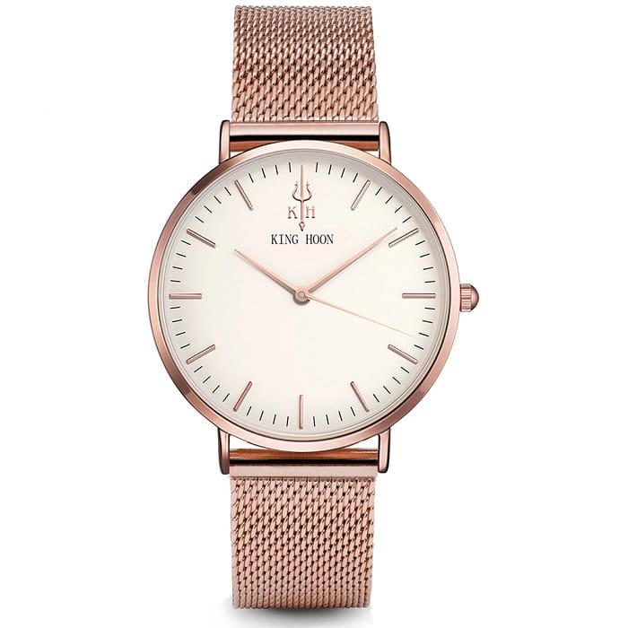 06ec3126d03a Damski zegarek KING HOON na bransolecie rose gold - biała tarcza ...