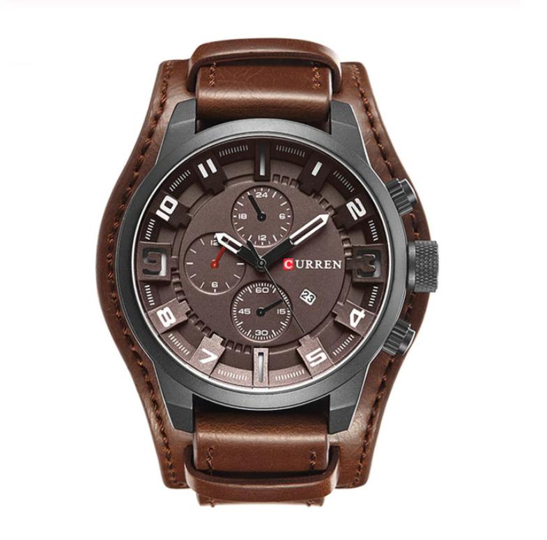 Image of Brązowy zegarek CURREN z datownikiem