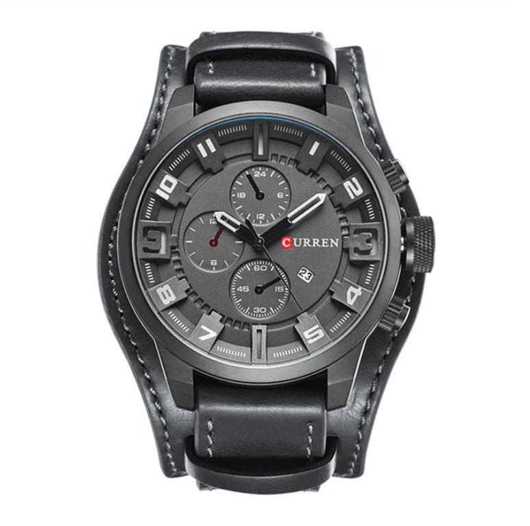 Czarny zegarek CURREN z datownikiem