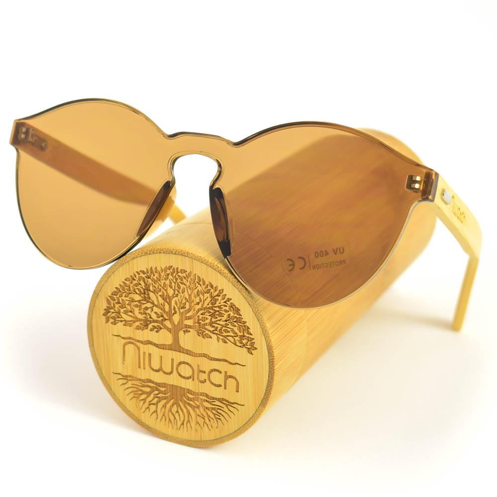 Drewniane okulary przeciwsłoneczne Niwatch Cassiopeia Brown