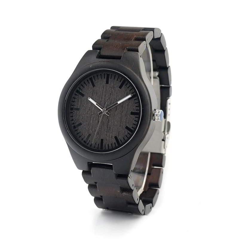 Image of Ciemnobrązowy zegarek drewniany BOBO BIRD EI22