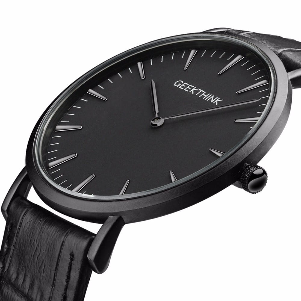 Czarny zegarek GeekThink na pasku
