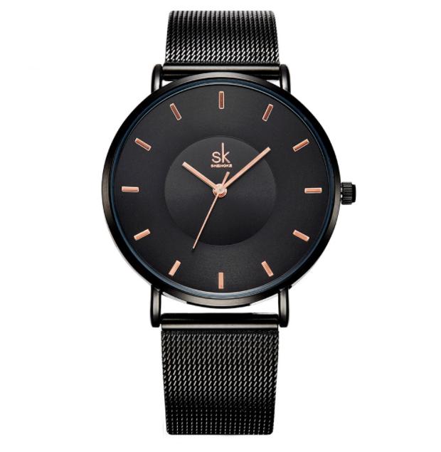 Czarny zegarek damski SK na bransolecie